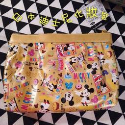 日本進口SUN-STAR迪士尼系列 米奇亮面化妝包 收納包 筆袋 交換禮物 聖誕禮物