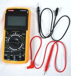 豐原LED~EXCEL 大螢幕數字三用電錶 萬用電表 電壓表 DT-9205A 便宜又大碗