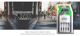 VXTRA ★4號電池低自放1000mAh 4入+智慧型充電器