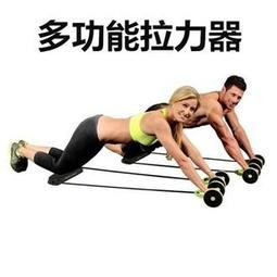 多功能運動拉力繩雙輪健腹器/健腹輪/健美輪不傷地板 健腹輪 雙滾輪 健美輪 腹肌 健腹器 伏地挺身器 健身 美腿機 單槓