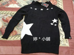 【婷*小舖】羅志祥 STAGE STAR LONG VERSION SWEATER [ 黑 S ] 星星 針織 毛衣