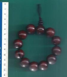 [大橋小舖] 紅酸枝木佛珠手串 / 每顆直徑約2公分 / 共12顆