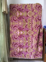 【米倉】二手老物件收藏道具「皇后牌」紫色圖案早期毯子/毛毯/地毯/蓋毯/懶人毯/薄毯