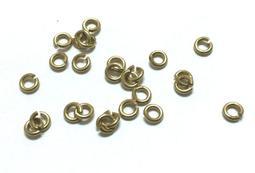 *蜂窩串珠材料*DIY 4mm黃銅單圈/黃銅C圈/黃銅開口圈,一包約50個