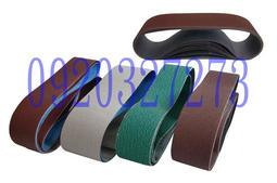 """各種規格皆可做~砂布環帶、砂布帶3""""x18""""--150#、砂帶、針對金屬、合金、木材、鋅鋁合金、玻璃等皆有砂布搭配"""