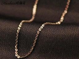 玫瑰金細鋼鍊 不鏽鋼材質鋼鏈 搭配墬子 配玉 配銀飾品 配項鍊 配戒指 不生鏽 抗過敏 單條價【DKS328】哈飾奇