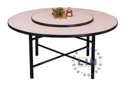 473-19餐桌轉盤木心板