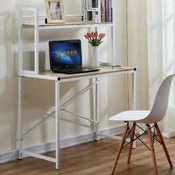 【在地人傢俱】19 便宜購-9810淺木紋白色雙色3.5尺書桌/電腦桌 SH848-3