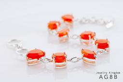 【寶石王國】設計師設計款 ✡ 紅瑪瑙=紅玉髓=第三眼=火之石=長壽之石=Carnelian│AG8B