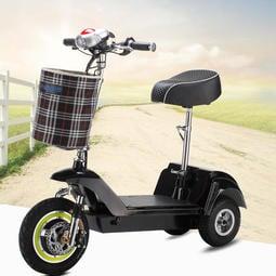 12吋3輪.海豚-電動折疊滑板車~む36V無刷電機&磷酸鐵鋰電池め可折疊、好便攜、超節能、