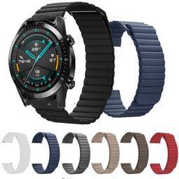錶帶 華為watch GT2pro運動回環吸磁真皮手錶帶 榮耀magic2 Dream腕帶