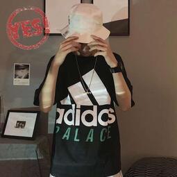 Adidas 阿迪情侶款簡約短袖 寬鬆休閒短T 純棉 百款T恤 男女款 圓領T 短袖上衣 情侶時尚潮T