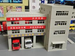 [熊貓] N規 1/144 組裝模型 消防隊 清潔隊 物流中心 工程車 貨車 卡車 車庫+ 建築大樓