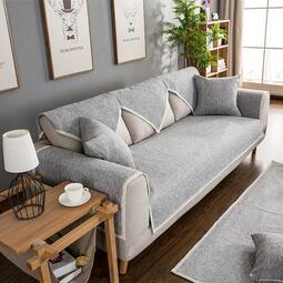 現貨 yo ki四季通用布藝防滑沙發墊坐墊實木客廳簡約現代棉麻沙發套罩巾全蓋