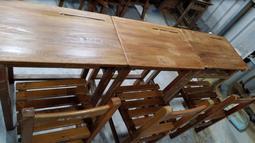 二手國中課桌椅(一桌一椅)