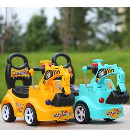 兒童扭扭車溜溜車帶音樂靜音輪1-3歲工程車挖土機玩具車小孩子車