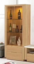 【風禾家具】FCM-313-3@原木色玻璃展示櫃【台中10400送到家】收納櫃 玻璃櫃 酒櫃 北歐風 低甲醛木心板 傢俱