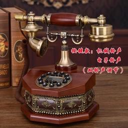 【行運復古】創意美式復古轉盤電話機座機歐式仿古電話機老式古董插卡家用電話