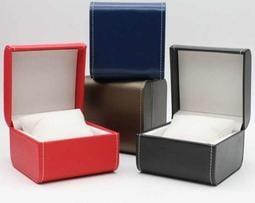 時尚高檔PU皮質圓角手錶盒手鍊盒展示盒首飾盒包裝盒翻蓋盒子包