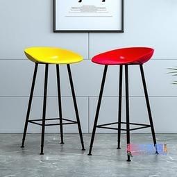新品上架-吧檯椅 北歐吧台椅歐式現代簡約家用金色鐵藝凳子創意酒吧椅網紅高腳椅子JY-可開發票-