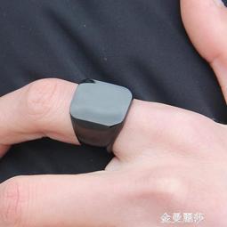 時尚潮男戒指男士鈦鋼食指環個性霸氣亮黑單身戒子飾品配飾可刻字 交換禮物