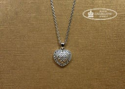 天然鑽石心型K金墜子 (不含項鍊)  L0018