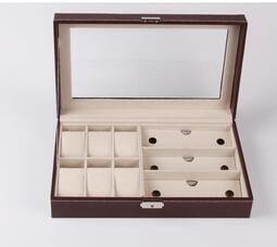 【免運】優質手錶收納盒 6位收納盒墨鏡眼鏡3位收藏展示盒【凡卡羅】