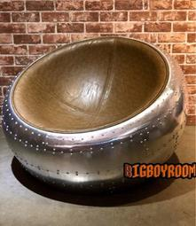 【BIgBoyRoom】工業風家具傢俱 單人鋁皮蛋椅發LOFT 半球形單人卯釘沙發 金屬風椅子 美式餐廳酒吧咖啡廳沙發椅