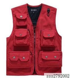 多層口袋M-3XL帆布攝影馬甲男女兩用多口袋背心秋冬釣魚馬甲