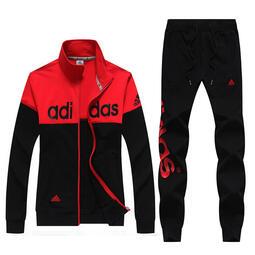 愛迪達 Adidas 刺繡logo 運動套裝 外套棉褲長袖套裝 兩件套 男女套裝 時尚訓練服 情侶運動服 班服