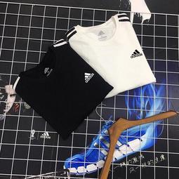 春夏款愛迪達 adidas 針織套頭衫款 男黑色休閑運動衛衣 大學生T 長袖T恤 圓領上衣 圓領T恤