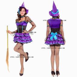 現貨2016尾牙女巫服裝成人Cosplay魔法女巫裝扮女巫婆衣服女巫長裙