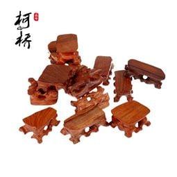 【重磅超質感】【風水用品】紅木酸枝實木奇石頭玉石木托印章木雕根雕小底座工藝品擺件特價