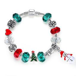 聖誕樹串珠手鏈男女歐美熱銷款個性聖誕老人手環手鏈廠家直銷個性百搭