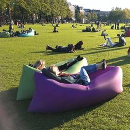懶人戶外充氣沙發袋便攜式空氣床墊午休床野營露營氣墊床單人沙灘