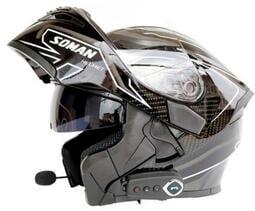 電動摩托車藍牙頭盔 雙鏡片揭面盔全盔 頭盔 可樂帽 安全帽 鋼鐵人安全帽 藍芽安全帽 機車安全帽【台南姑娘】